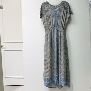 LUCKY BRAND MAXI DRESS MULTI PATTERN SZ M